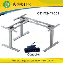Europa e América venda quente mesa de computador instruções de montagem elétrica altura ajustável tabelas