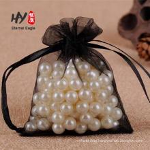 Jewelry packaging drawstring custom logo organza gift pouch