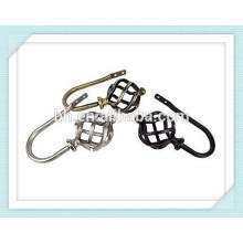 Люксовые декоративные занавески с крючками для занавеса, подвесной потолочный подлокотник, крючки для металлической подвески