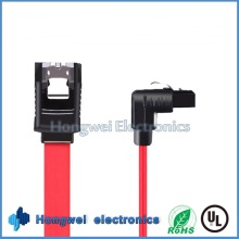 PVC Flat 90 Degrees SATA a Serial Port Hard Disk Data Cable