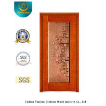Porta de aço de segurança dourada com arte de ferro (b-8003)