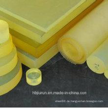 Gelbes Polyurethan / Polyester-Blatt / PU-Blatt