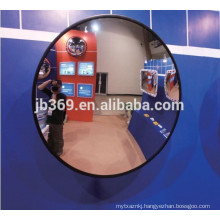 Good quality PC or Acrylic lens convex mirror with rubber edge