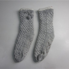 Ladies Fashion Pompom Knit Floor Socks