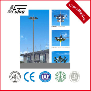 6X800W HPS lamp with high mast lighting pole