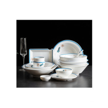 Luxury creative household tableware melamine high-quality hotel restaurant exquisite tableware set
