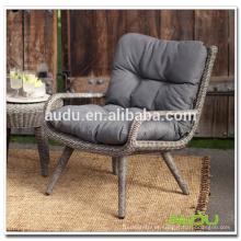 Cadeira Audu Cane, cadeira de bastão Round Rattan Patio