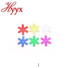 Forma del copo de nieve del confeti del pvc del diseño del OEM Country Style del OEM de la belleza de HYYX para la decoración de la Navidad