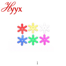 HYYX Beauty Country Style OEM Design pvc confetti snowflake shape for christmas decoration