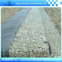 Gabion malla de alambre utilizado para fortalecer la estructura del suelo