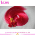 Quality cheap wholesale color fuchsia europe human hair flat tip extensions