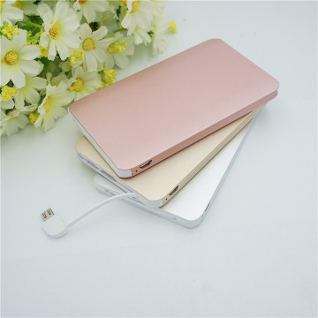 Ultradünne Metallkarten-Powerbank 4000mAh