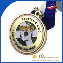 Medallas de premio barato en blanco Placa de premio de diseño