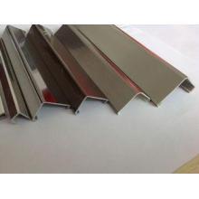 ABS Customised Plastic Extrusion Profiles L shape for decor