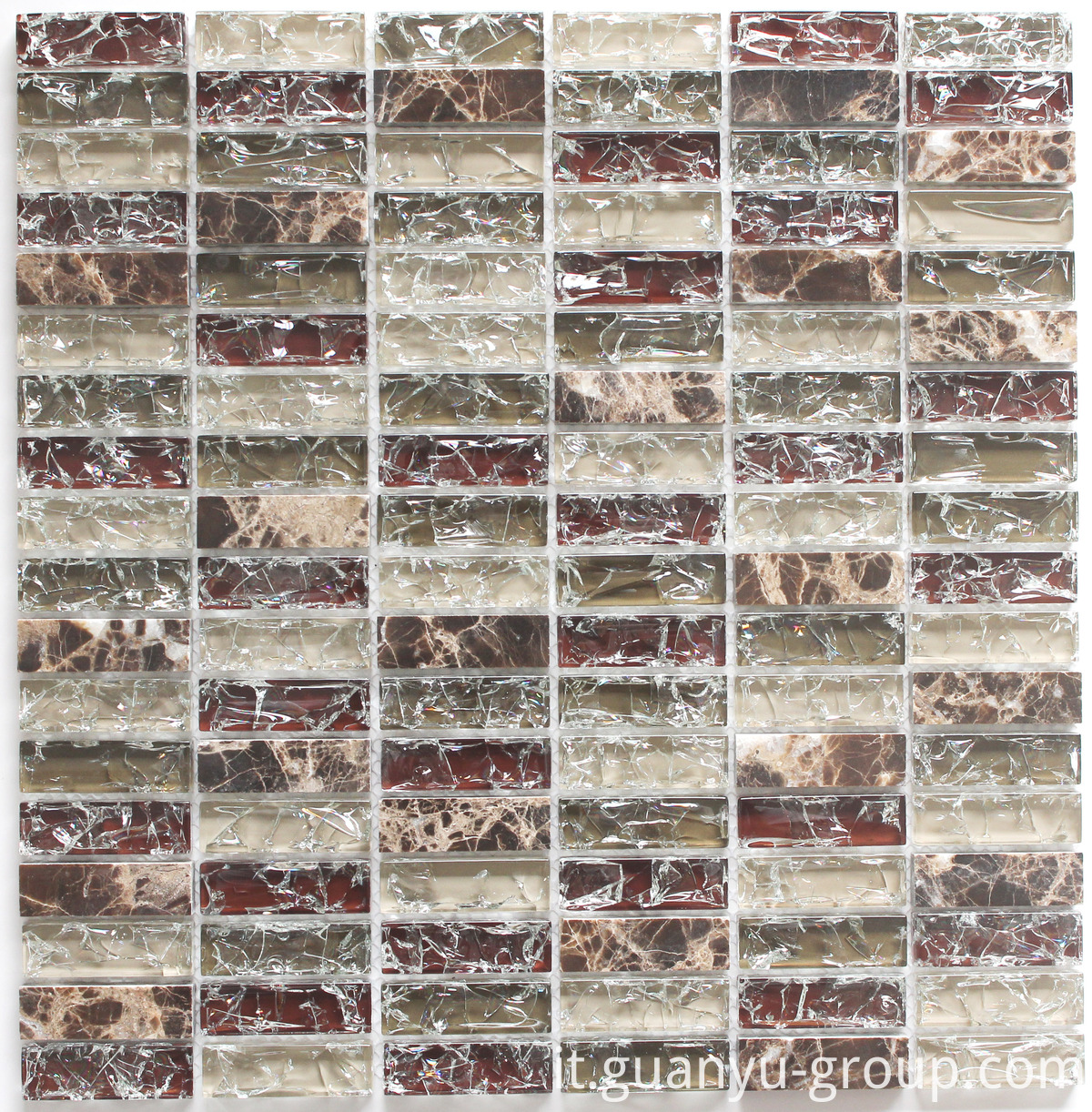 Cracked Glass And Marble Mosaic BL8504