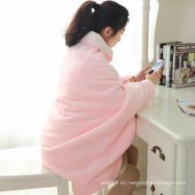 Isla rosa y manta de lana peluda