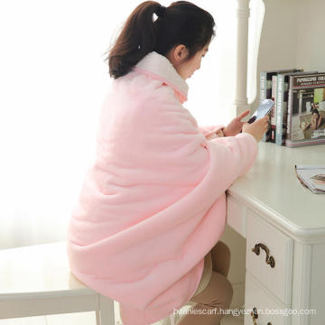Pink island and shaggy fleece blanket