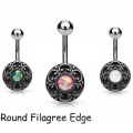 Trendy Tribal Pattern Style Celtic Cross Belly button navel ring Fake Belly Button Ring