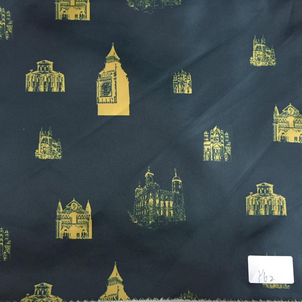World Landmarks Printed Lining