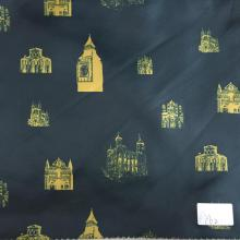 World Landmarks Green/Yellow Printed Lining