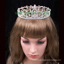 2016 Tiara de alta calidad del Rhinestone de la corona