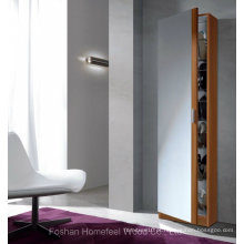 Porta de espelho de tamanho completo com gabinete de armazenamento de calçados finos (HF-EY0825)
