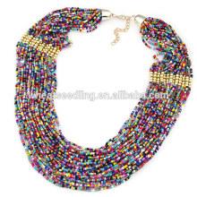 Богемия этнические многослойные бусины ожерелье