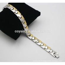 Bracelets ION plaqués or en 18k Balance équilibrée Bracelets électriques