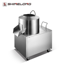 Machine électrique industrielle résistante industrielle de machine à éplucher des pommes de terre de rendement élevé avec le robinet de l'eau