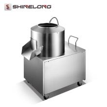 Bom desempenho industrial máquina de descascamento elétrico industrial de batata elétrica com torneira de água