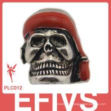 Cuentas de metal populares de cráneo para pulseras de Paracord