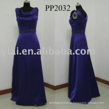 2010 fabricación sexy vestido de noche de seda de cuentas PP0032