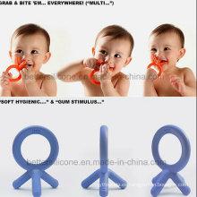 100% Eco-Friendly LSR silicona caucho bebé Teether juguetes