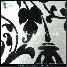 Reunindo-se em relevo PU couro tecido/falso PU couro tecido