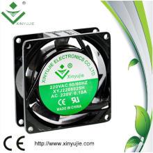 Casa de aluminio de 80 mm Alta Potencia de 8025 AC Ventilador 220V