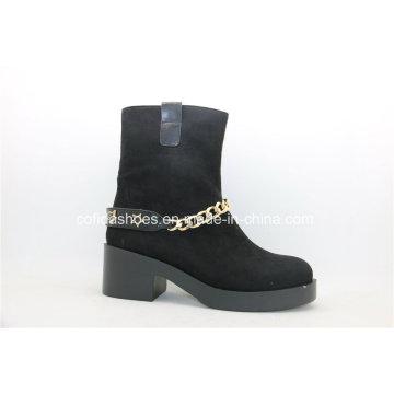 Fashion Lady Unit Talon Lady Ankle Bottes avec chaînes