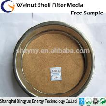 Fornecimento profissional noz 80mesh em casca / noz shell abrasivo