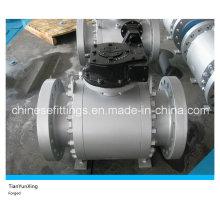 A105n API Caja de cambios Brida de forja Válvula de bola de acero al carbono