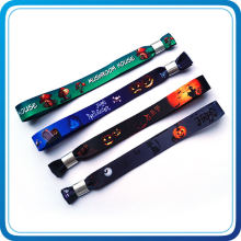 Party Decoration Halloween Heat Tranfer Print Fabric Wristband