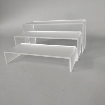 Acrylic shoe display Jewelry Riser Show case Fixtures.