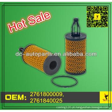 Elemento filtrante de óleo / lubrificante 2761800009,2761840025 Adapta-se ao Mercedes Benz C300 / C350 / CL550 / E350 / E550 / GL450
