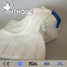 Absorbent 100% bleached cotton disposable medical gauze lap sponge
