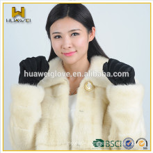 Wholesale cheap pigskin gloves women suede leather gloves