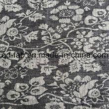 100% lino Jacquard hilados de tela teñida (QF16-2480)