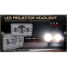 """LED Projector farol, 4 """"* 6"""" DOT compatível com feixe de alta e baixa feixe"""