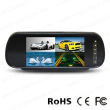 7 Inch TFT LCD Car Mirror Quad Split Monitor