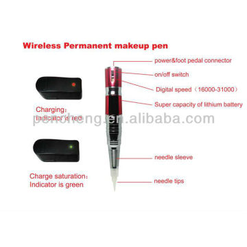Inalámbrico Permanent maquillaje ceja tatuaje pluma & profesional permanente maquillaje kit de la máquina