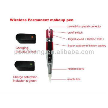 wireless Permanent makeup eyebrow tattoo pen &Professional permanent makeup machine kit