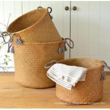 (BC-ST1072) Good Quality Pure Manual Natural Straw Basket