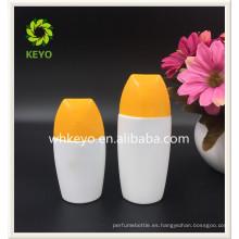 Botella cosmética vacía coloreada de alta calidad de la protección solar del embalaje de la venta caliente 50ml